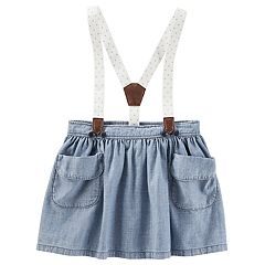 Toddler Girl OshKosh B'gosh® Suspender Chambray Skirt