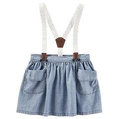 Toddler Girl OshKosh B'gosh® Suspender Chambray Skirt