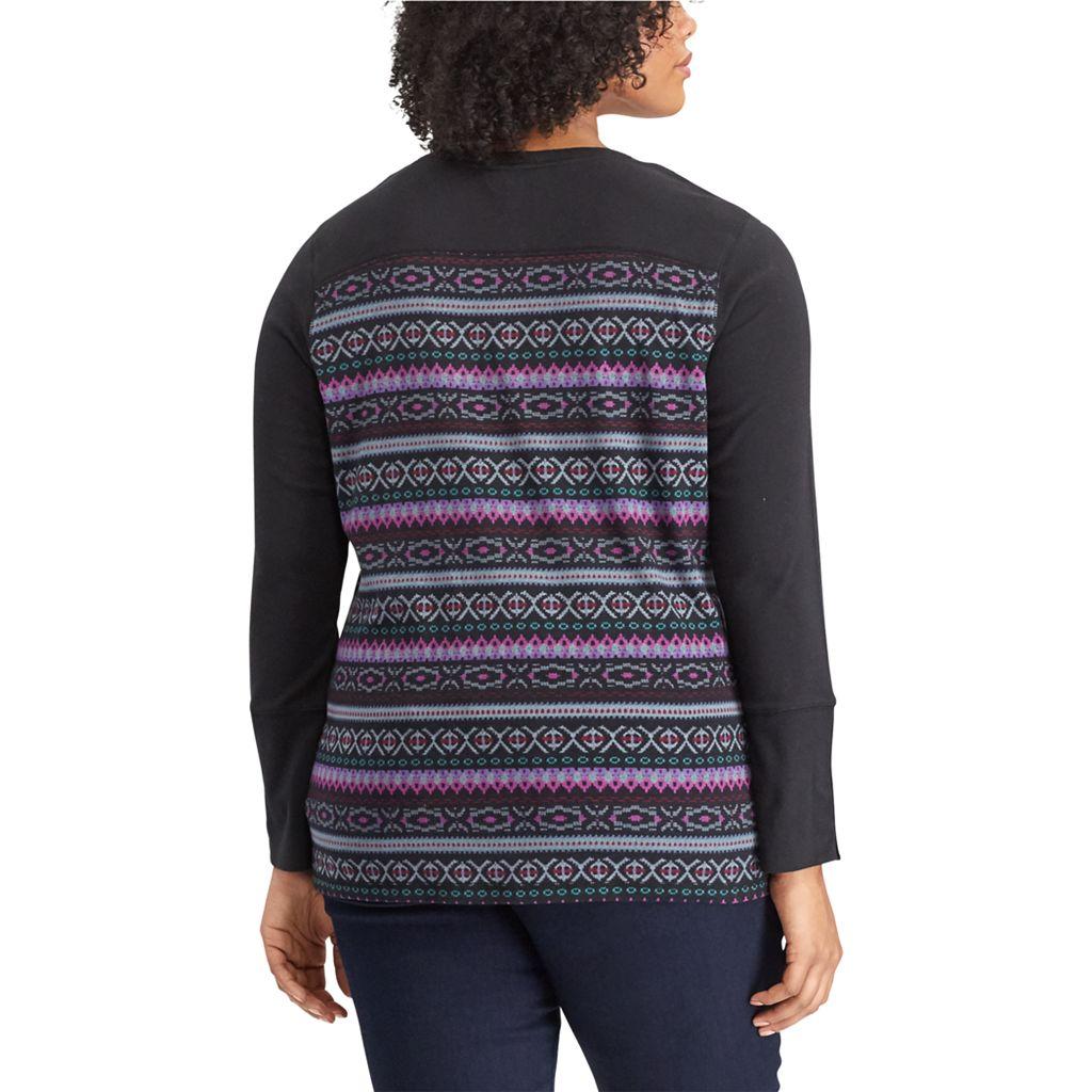 Plus Size Chaps Knit Top