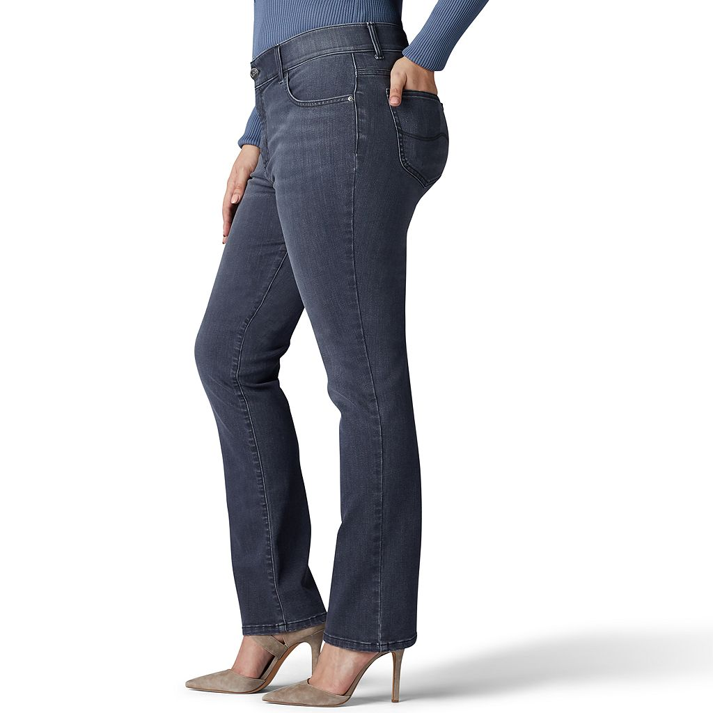 Plus Size Lee Total Freedom Straight Leg Jeans