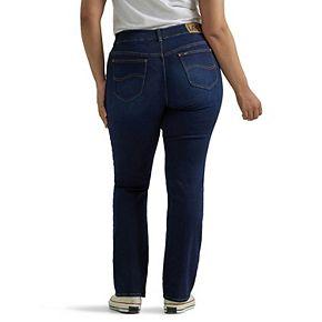 Plus Size Lee Flex Motion Regular Fit Straight-Leg Jeans