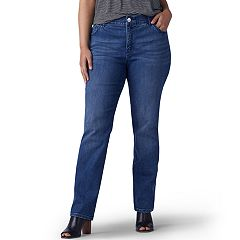 Plus Size Lee Flex Motion Regular Fit Straight-Leg Jeans