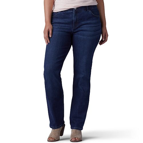 78119b4f97a Plus Size Lee Flex Motion Regular Fit Straight-Leg Jeans