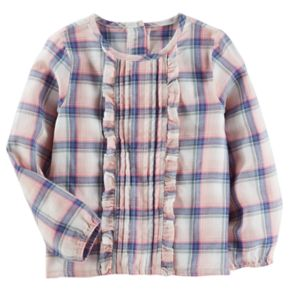 Toddler Girl OshKosh B'gosh® Ruffle Plaid Top