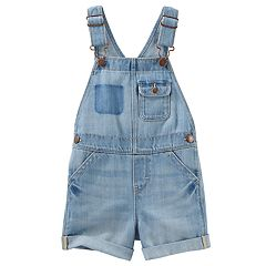 Toddler Girl OshKosh B'gosh® Sky Wash Shortalls