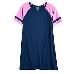 Girls 7-16 SO® Raglan Varsity Tee Dress