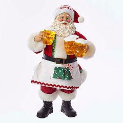 Kurt Adler Celebratory Santa Christmas Table Decor