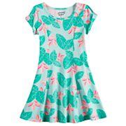 Girls 4-10 Jumping Beans® Twist Cold Shoulder Sleeve Skater Dress