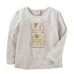 Toddler Girl OshKosh B'gosh® 'Love Makes The World Go Round' Graphic Tee