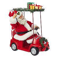 Kurt Adler Santa & Golf Cart Christmas Table Decor