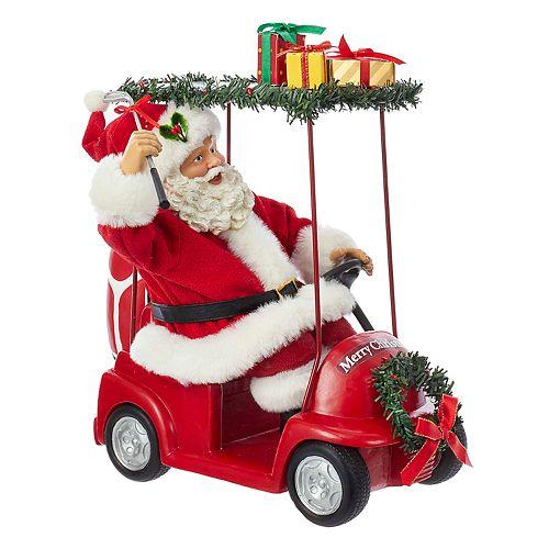 Kurt Adler Santa Golf Cart Christmas Table Decor