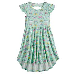 Girls 4-10 Jumping Beans® High-Low Hem Flutter Skater Dress