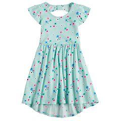 Girls 4-10 Jumping Beans® High-Low Hem Flutter Skater Dress