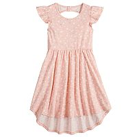 Girls 4-10 Jumping Beans® Bow Back High-Low Hem Flutter Skater Dress