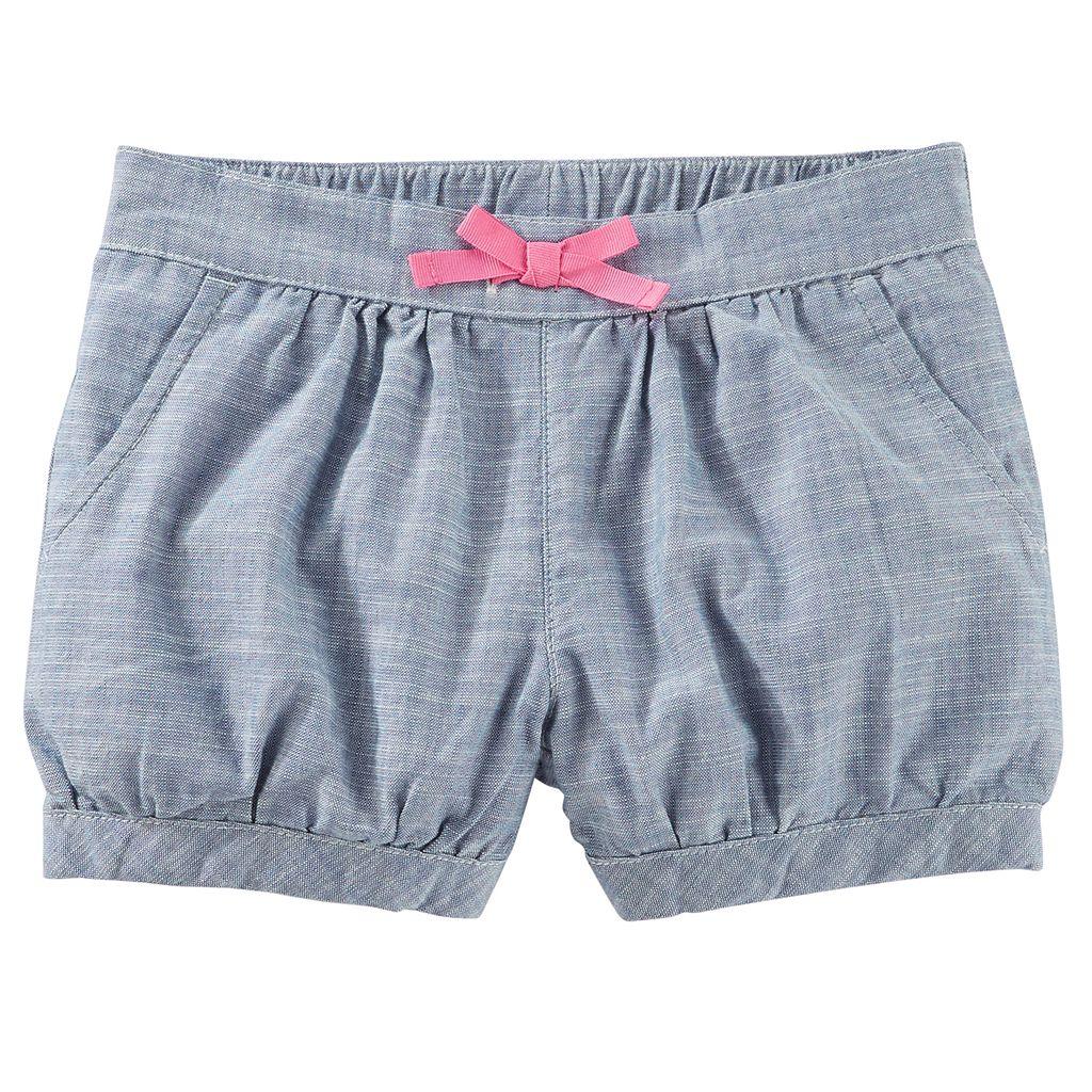 Toddler Girl OshKosh B'gosh Striped Henley Top & Shorts Set