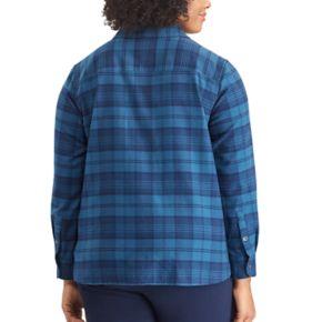Plus Size Chaps Plaid Top