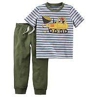 Toddler Boy Carter's 2 pc Monkey Stripe Top & Jogger Pants Set