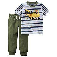 Toddler Boy Carter's 2 pc Monkey Stripe Top & Jogger Pants Set