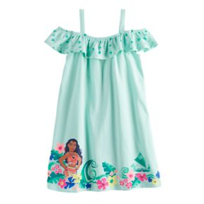 Disney's Moana Girls 4-10 Graphic Off-The-Shoulder Dress by Jumping Beans®