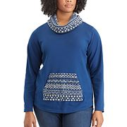 Plus Size Chaps Long Sleeve Knit Top