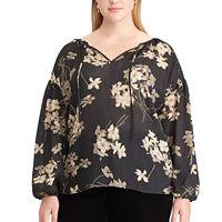 Plus Size Chaps Floral Blouse