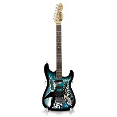 San Jose Sharks Collector Series Mini Replica Electric Guitar