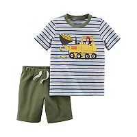 Toddler Boy Carter's 2 pc Monkey Stripe Top & Shorts Set