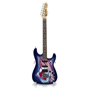 Colorado Avalanche Collector Series Mini Replica Electric Guitar