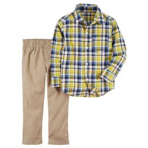 Baby Boy Carter's Plaid Shirt & Pants Set