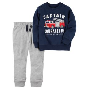 "Baby Boy Carter's Fire Truck ""Captain Courageous"" Top & Pants Set"