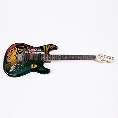 Chicago Blackhawks Collector Series Mini Replica Electric Guitar
