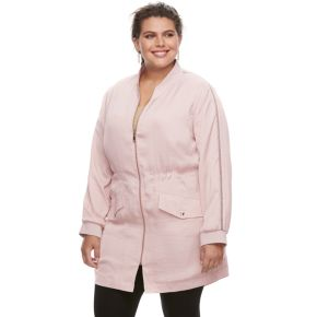 Plus Size Jennifer Lopez Embellished Anorak Jacket