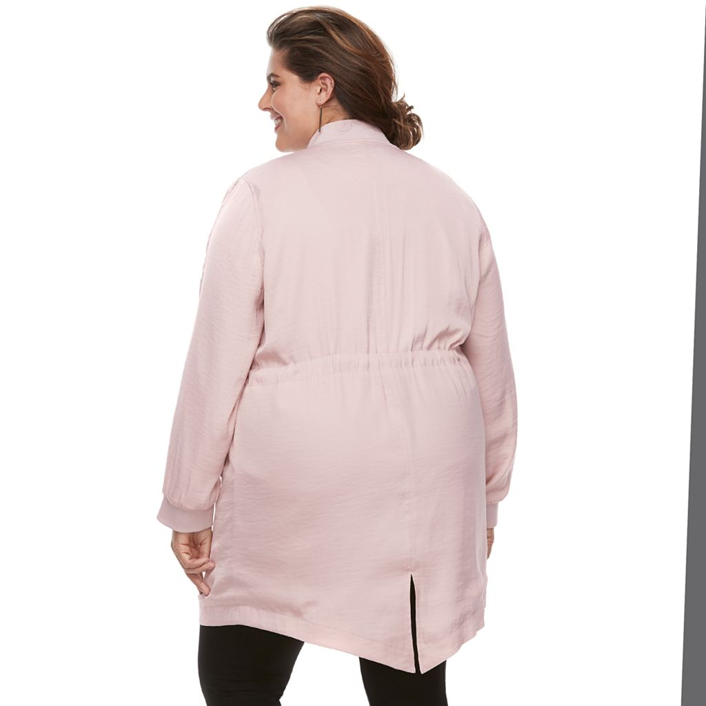Plus Size Jennifer Lopez Embellished Anorak Jacket
