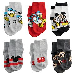 Disney's Mickey Mouse Toddler Mickey & Friends 6-Pack Socks