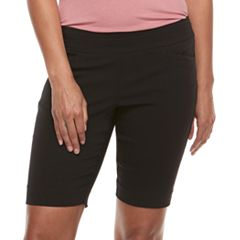 Petite Apt. 9® Elastic Waist Bermuda Shorts