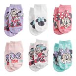 Disney's Minnie Mouse Toddler Minnie's Happy Helpers 6-Pack Socks