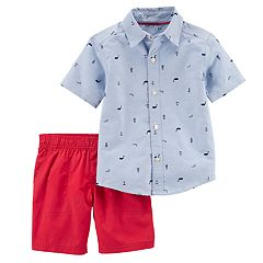 Toddler Boy Carter's Nautical Shirt & Shorts Set