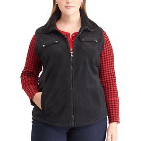 Plus Size Chaps Fleece Vest