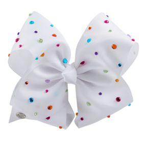 Girls 4-16 JoJo Siwa White Rainbow Rhinestone Bow