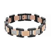 Men's Two Tone Stainless Steel 1/2 Carat T.W. Diamond Bracelet