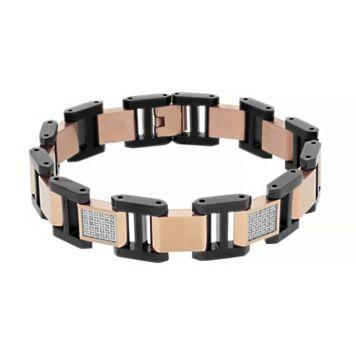 Men's Two Tone Stainless Steel 1/2 Carat T.W. Diamond Bracelet