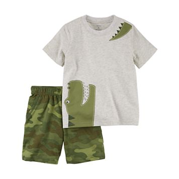 Baby Boy Carter's Aligator Tee & Shorts Set