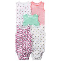 Baby Girl Carter's 5-pk. Lace-Trim Bodysuits