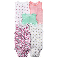 Baby Girl Carter's 5 pkLace-Trim Bodysuits