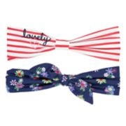 "Girls 4-8 Carter's 2-pack ""Lovely"" & Floral Headwraps"