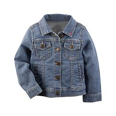 Toddler Girl Carter's Heart Denim Jacket