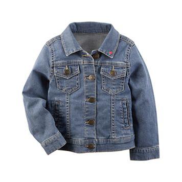 Toddler Girl Carter's Heart Denim Jacket