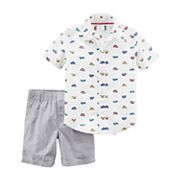 Toddler Boy Carter's 2 pc Car Print Shirt & Shorts Set