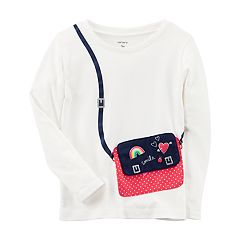 Toddler Girl Carter's Purse Applique Tee