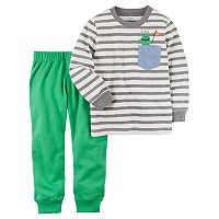 Toddler Boy Carter's 2-pc. Striped Long-Sleeve Tee & Jogger Pants Set